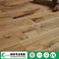 Popular Russian oak Handscraped and stained solid wood flooring