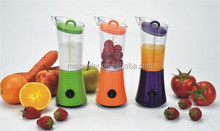 battery operated portable fruit juicer 250ml vegetable and fruit blender mixer