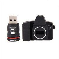 pvc camera shape usb memory flash drive with logo printing