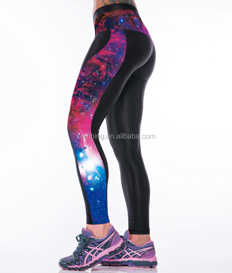 custom printed high rise graphic yoga pants wholesale women leggings tights for women girls wearing yoga pants