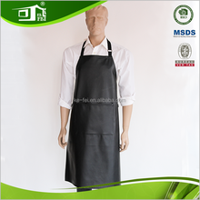 High Quality Durable Artisan Apron Slaughter Apron PU Black Leather Work Apron