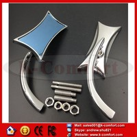 KCM347 For Suzuki Honda Kawasaki Victory Harley Davidson 4-Point Micro Motorcycle CHROME Mirrors