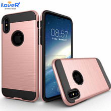 anti shock protector armor phone cover hybrid case for iphone X 10