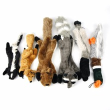 Cute Dog Toys Non-Stuffed Squeaking Animals Pet Toy Plush Puppy Honking Squirrel for Dogs Cat Chew Squeaker Squeaky Toy for Pet