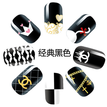2016 New Design Classical Black Nail Polish Sticker for Lady
