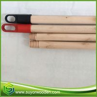 Dry Material Wood Stick Wooden Handle With Hook Cap For Mop Broom