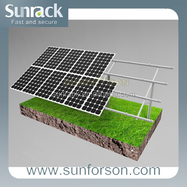 Solar farm aluminum ground pile solar mounting