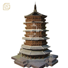 handmade Chinese famous ancient architecture model of yingxian wooden pagoda displayed in museum
