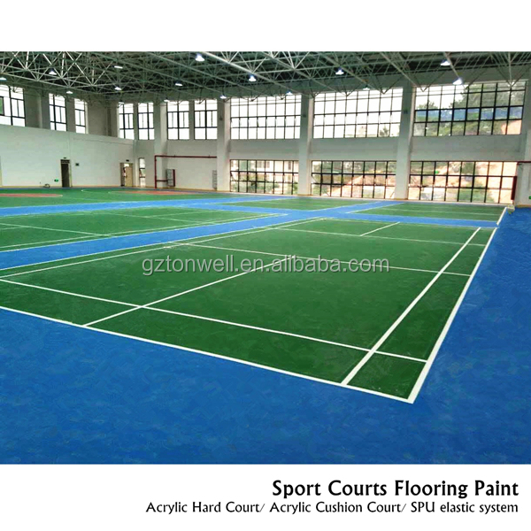 Non toxic SPU coating for stadium gym sport field underlay