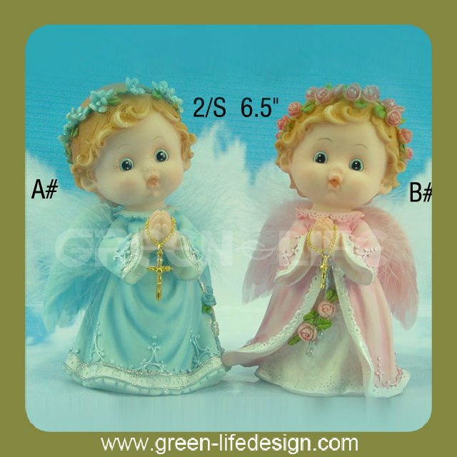 Praying Baby angel baptism souvenirs