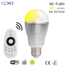 Decoration light dimmable energy saving 2.4G adjustable 9w led bulb