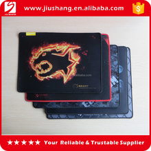 Cheap price polyester Rubber Computer Gaming mouse pad with stitching edge