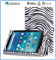 Zebra Pattern Leather Case for 2015 Kindle HD 8 with hand strap, leather case for kindle HD 8