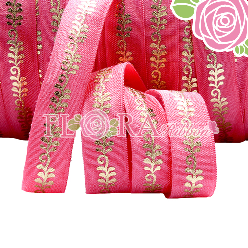 Wholesale Red Foil Gold Elastic Satin Ribbon for Knot Ties
