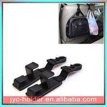 Car organizer seat back car hooks ,TAY5x plastic 2pc vehicle hook