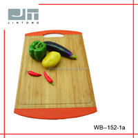 House kitchen cutting board bamboo with TPR handle