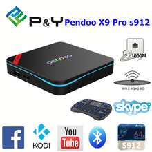 2017 Hot selling Pendoo X9 Pro S912 2G 16G h.264 h.265 ott tv box with best quality and low price KODI TV BOX