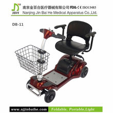 Red color 270W disabled four wheels electric scooter