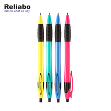 Reliabo Wholesale China Factory Multi Colored Cheap Customized Logo Plastic Black Ink Ballpen