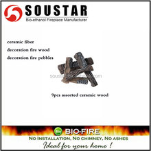 Hot sale Assorted ceramic wood fireplace logs