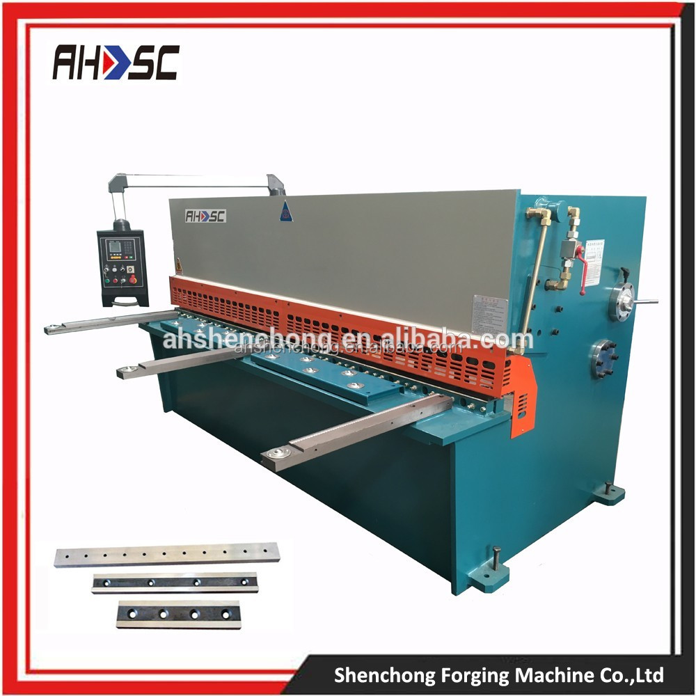 8mm hydraulic japanese sheet working machine guillotine shearing machine with Siemens motor at high quality low price