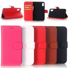 2017 New Selling Lychee PU Pattern Leather Flip Case for iPhone X with Stand Function