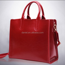 Leather tote handbags for ladys fashion classical tote bags ancient PU woman bag SGS factory in Guangdong