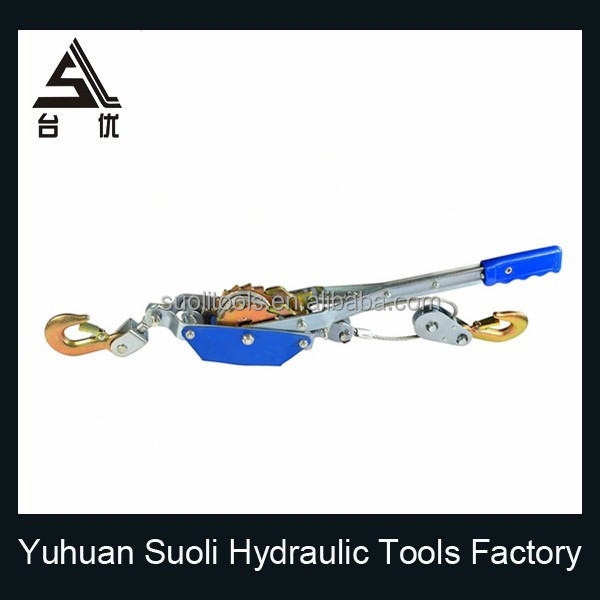 Manufacturing 2T mini cable puller with double gear double hook