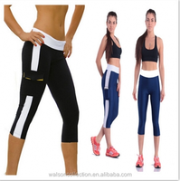 Leggings running yoga sports fitness gym capri womens 3/4 pants exercise bottoms jogger legging
