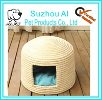 Pets Supply Straw Pet Nest Fashion Warm Breathable Cheap Cat Dog Houses