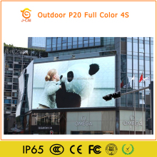 Clear Full color video LED Screen for KK Mall P20 Outdoor LED screen LED running message sign