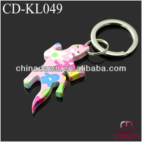 Small painted gecko keychain CD-KL053