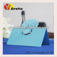 Laser cut wedding party table name seat cards in various colors from YOYO crafts