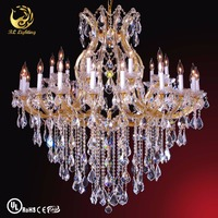 Contemporary Crystal Chandelier Auditorium Lighting Design