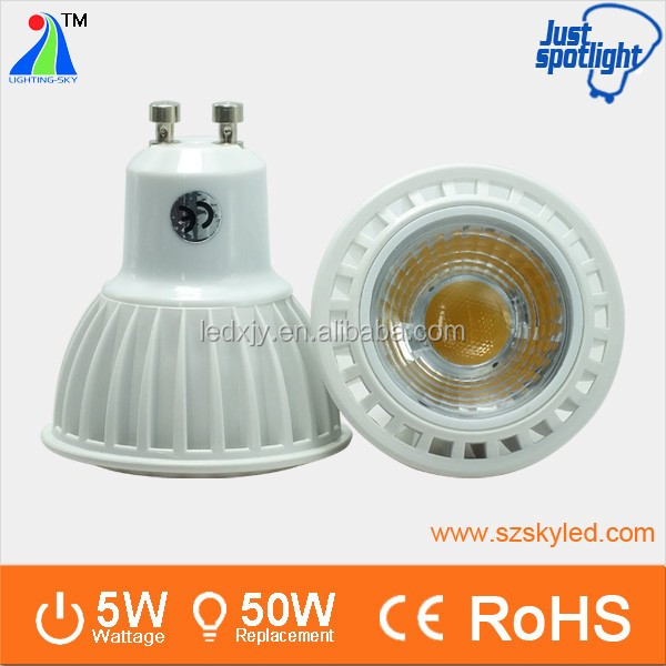 New Type LED Spot Light 5W MR 16 gu 10 Reflector Cup Led Lights