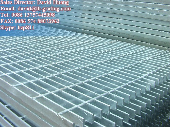 galvanized welded bar grating panels, galvanized metal steel grating