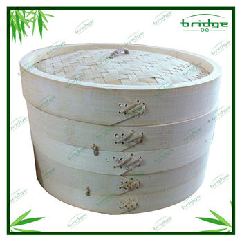 High quality wood bamboo kitchen steamers design