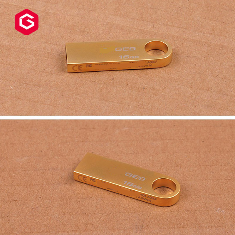Wholesale custom logo metal  usb flash 2GB 4GB 8GB 16GB