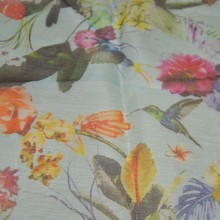 Digital print silk organza fabric/garment silk fabric