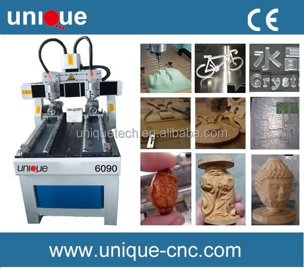 4 axis 6090 cnc router machine / mini cnc router 6090 for wood stone carving