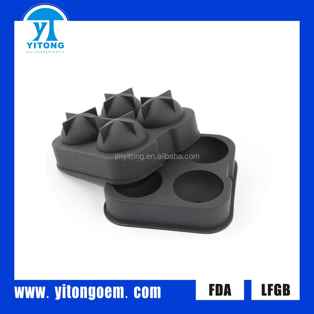 food grade very cute various shape blue blue selling versatile styling ice cube ice tray silicone ice mold wholesale