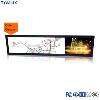 LED Backlit Lcd Digital Signage Wall Mount Advertise Bar Lcd Display