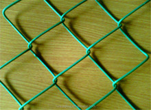 galvanized PVC coated used decorative fence/chain link fence prices
