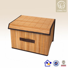 2016 new pattern zipper bamboo storage boxes with lid