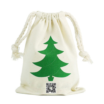 New design kids Christmas gift candy drawstring bags