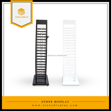Hot Sale Quartz/Marble/Granite Stone Display Stand Rack With Logo Printed/Wheel/Catalog Holder