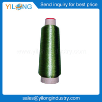 Embroidery thread Metallic thread 150D/2 Metallic Embroidery Thread with Paper cone Green Color