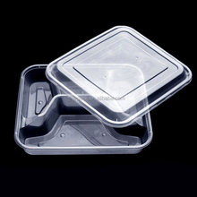 BPA Free Sample Leakproof Disposable Plastic 4 Compartment 1000ml Lunch Box Food Container