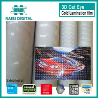 3D cat eyes roll laminating pvc film A4