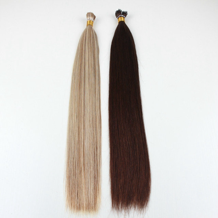 Unprocessed remy human hair pre-bonded stick hair 100% brazilian human i tip hair extensions wholesale